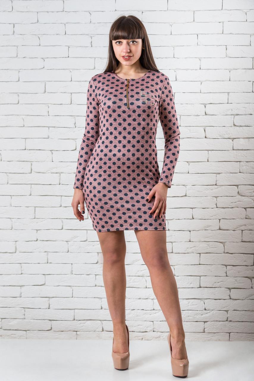 Нарядные платья  женские миди 42-48 розовый