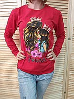 """Батник молодежный для девушек """"Princessa"""" размер44-48, красного цвета"""