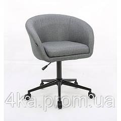 Косметическое кресло HROOVE FORM HR8326K серое ткань