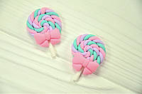 """Фигурка из полимерной глины """"конфетка"""" нежно розовая (около 4 см)"""