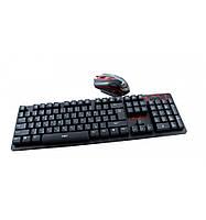 Беспроводная игровая клавиатура и мышь UKC HK-6500, фото 1