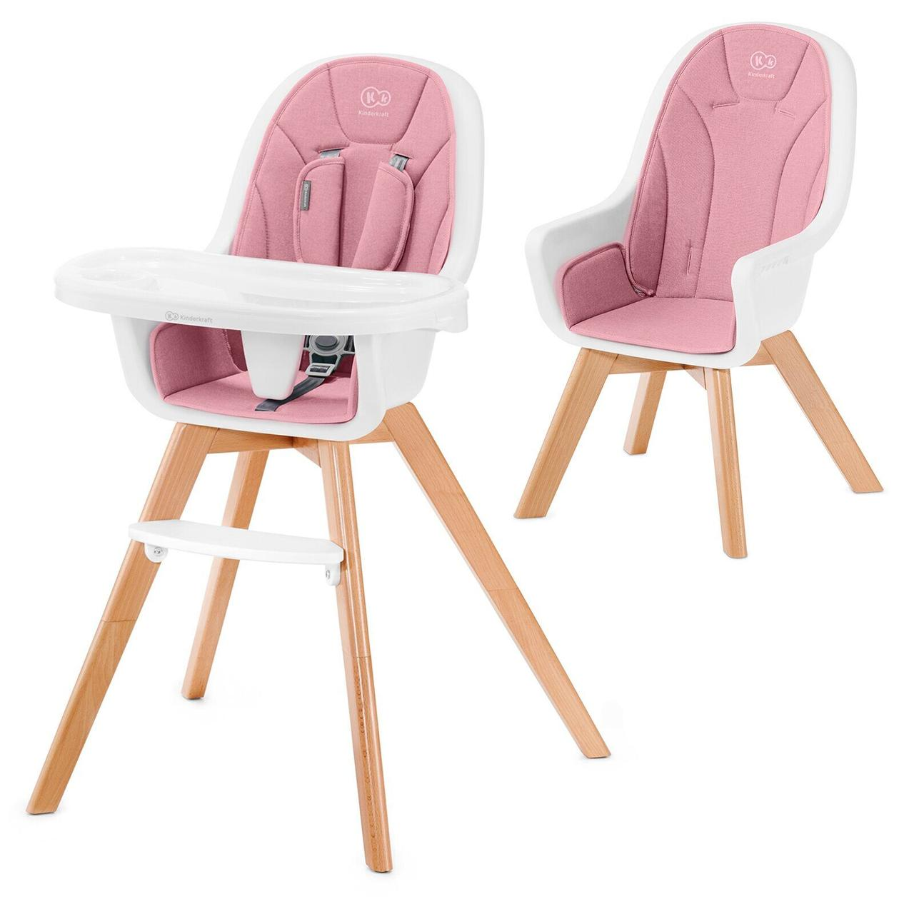 Стульчик для кормления Kinderkraft Tixi Pink
