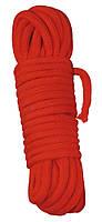 Веревка красная для шибари, 3 м.