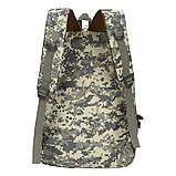 Рюкзак городской тактический темно-серый камуфляж с шевроном Американский флаг, фото 3