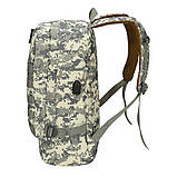 Рюкзак городской тактический темно-серый камуфляж с шевроном Американский флаг, фото 4