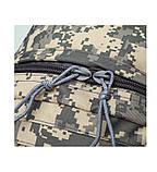 Рюкзак городской тактический темно-серый камуфляж с шевроном Американский флаг, фото 5