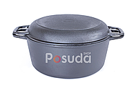 Чавунна каструля Біол з кришкою-сковородою 5 л 08051, фото 1