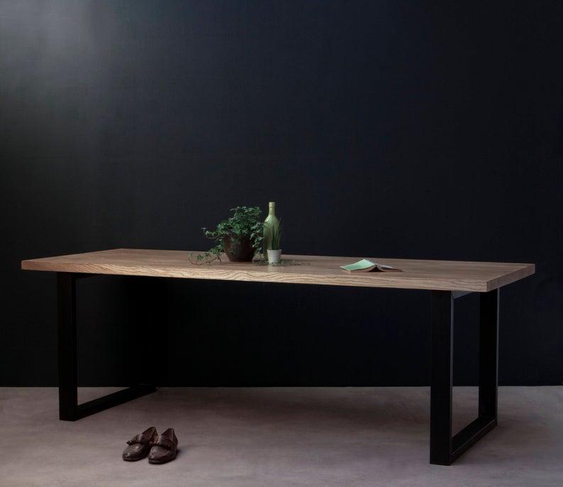 """Кухонный стол """"Пром"""" из массива дерева в стиле loft"""