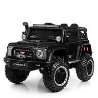 Детский электромобиль Джип M 4150EBLRS-2 черный крашенный