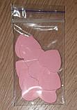 Набор из 10 деревянных сердечек для декора и скрапбукига (розовый), фото 4