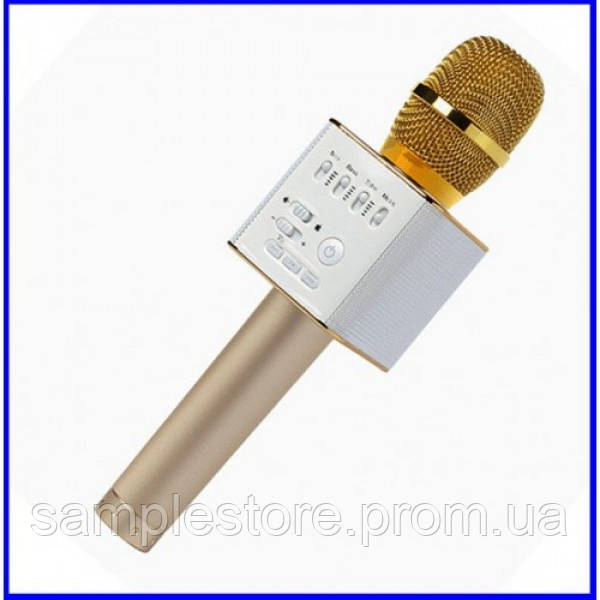 Беспроводной караоке микрофон DM Q9 Gold