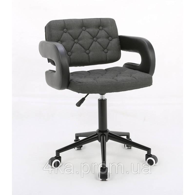 Косметичне крісло HROOVE FORM HR8403K графітове тканина
