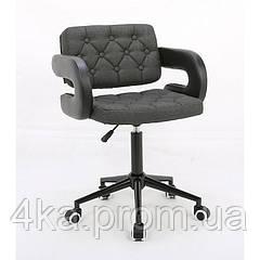 Косметическое кресло HROOVE FORM HR8403K графитовое ткань