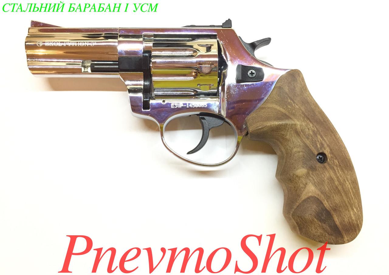 "Револьвер під патрон Флобера Ekol Viper 3"" chrome (дер)"