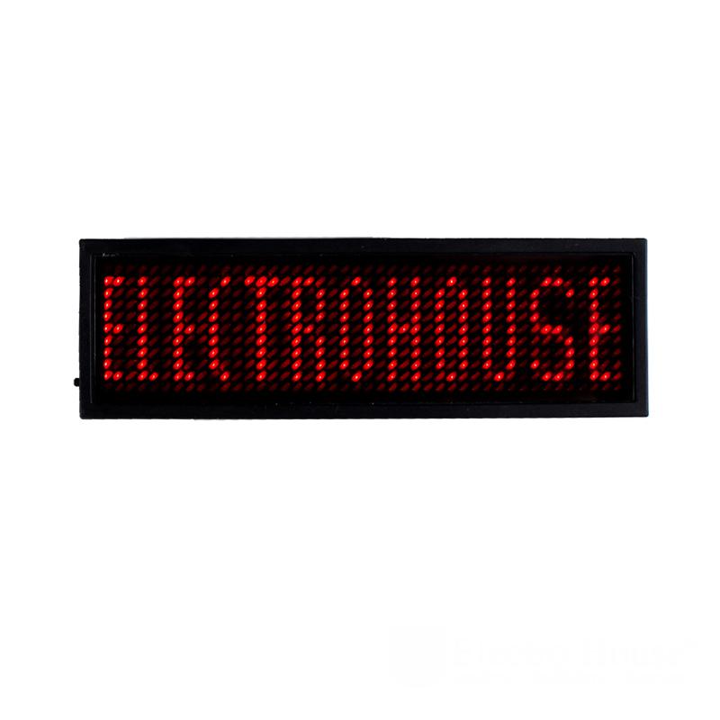 ElectroHouse Электронный Led бейдж, красный.