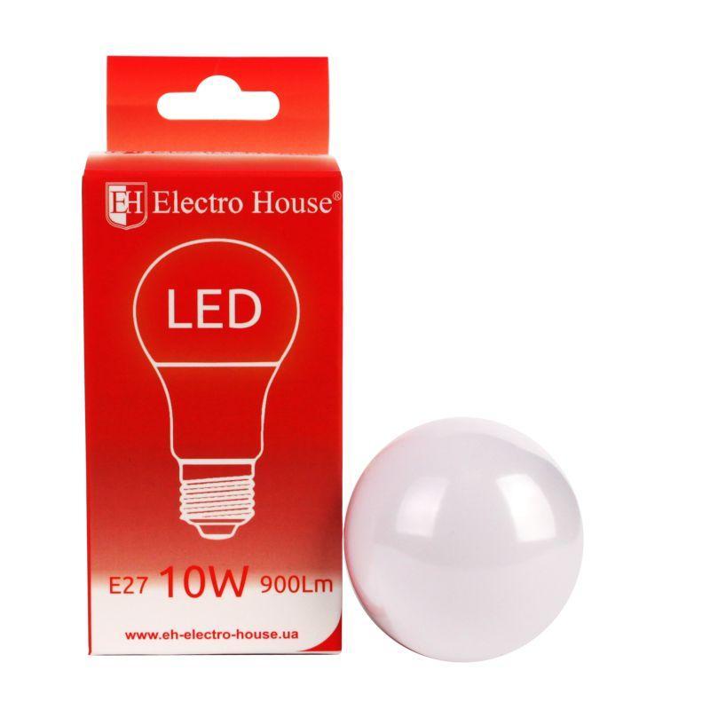ElectroHouse LED лампа E27 10W G45 4100K 900Lm