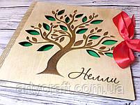 Фотоальбом в деревянной обложке с гравировкой (листы 25х25 см) (прозрачный лак), фото 2