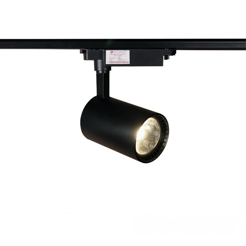 ElectroHouse LED светильник трековый 20W черный.