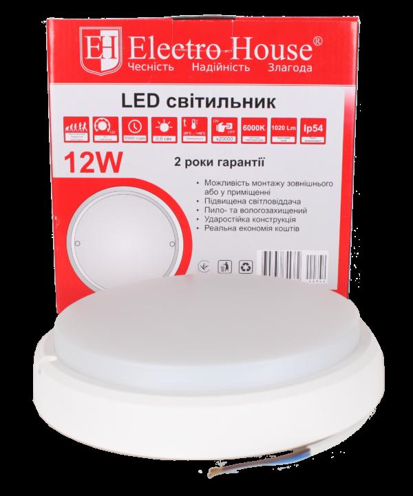 ElectroHouse LED светильник для ЖКХ 12W IP54.