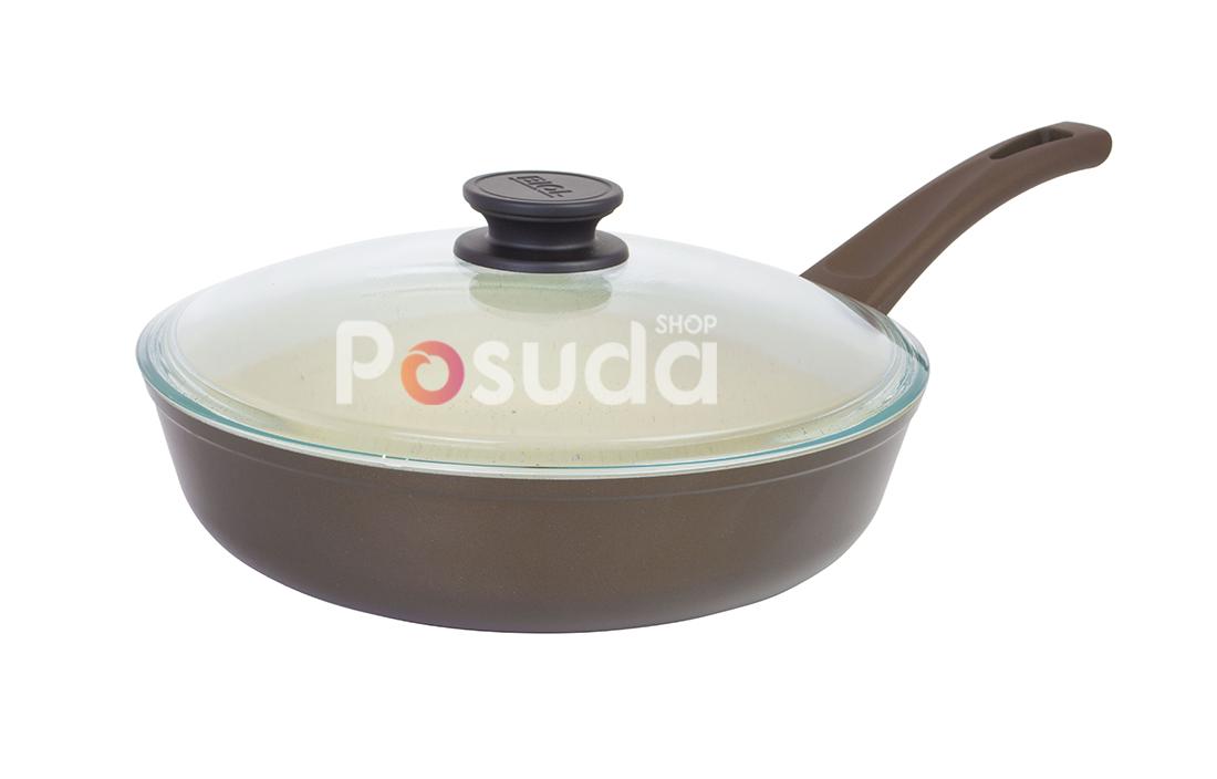 Сковорода Биол Классик декор с бакелитовой ручкой  28 см 28077ПС