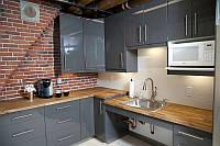 Прямоугольная кухонная столешница из массива натурального дерева, фото 1