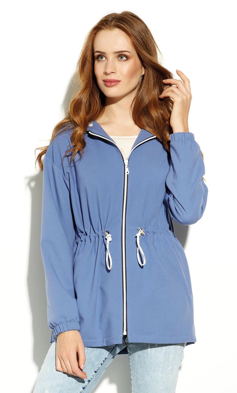Женская куртка-парка Lilita Zaps голубого цвета. Коллекция весна-лето 2020