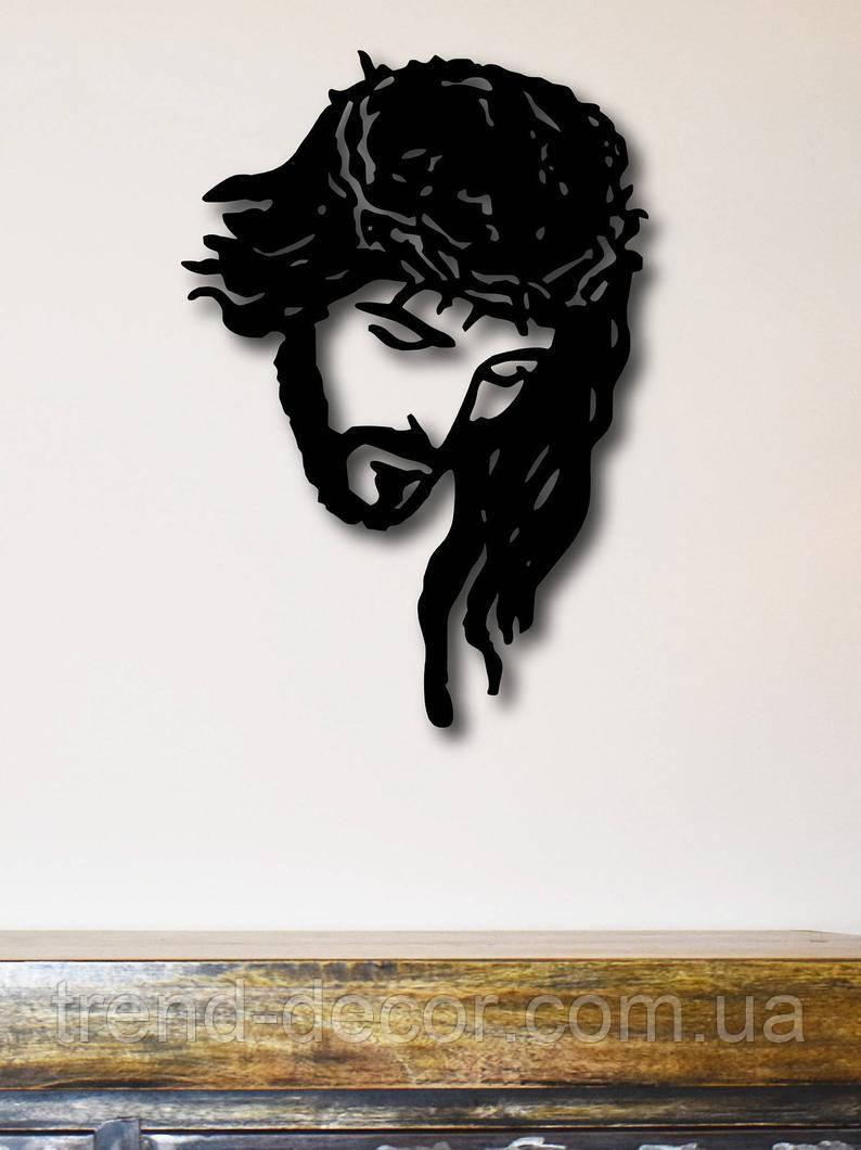 Декоративное металлическое панно Иисус