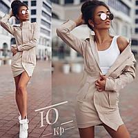 Элегантное  платье-пиджак Джинс бенгалин, фото 1