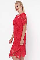Нарядное красное  женское платье из ирландского кружева 52-54, фото 3