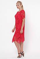 Нарядное красное  женское платье из ирландского кружева 52-54, фото 2