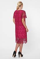 Нарядное женское платье из кружева  марсала с 52 по 58 размер, фото 2