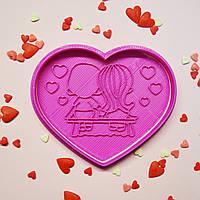 """Вирубка+штамп """"Love is..."""""""
