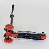 """Самокат А 24659/779-1308 MAXI """"Best Scooter"""" пластмассовый, 4 колеса PU,свет,трубка руля алюминиевая, d=12 см, фото 2"""