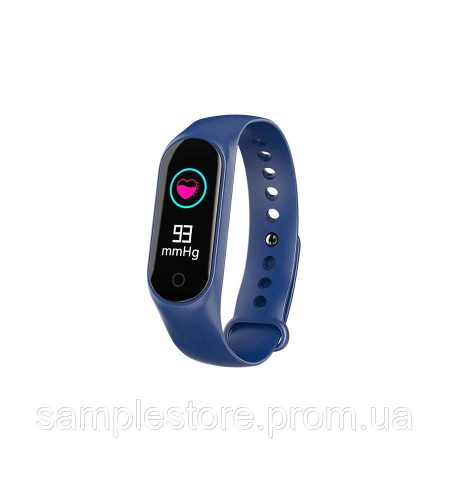 Фитнес браслет трекер Smart Band M3S Lux Blue синий