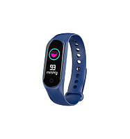 Фитнес браслет трекер Smart Band M3S Lux Blue синий, фото 1