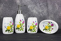 Набор аксессуаров для ванной Stenson R22346 Beautiful 4 предмета
