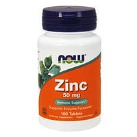 Цинк Глюконат NOW Zinc Gluconate 50 мг - 100 таб