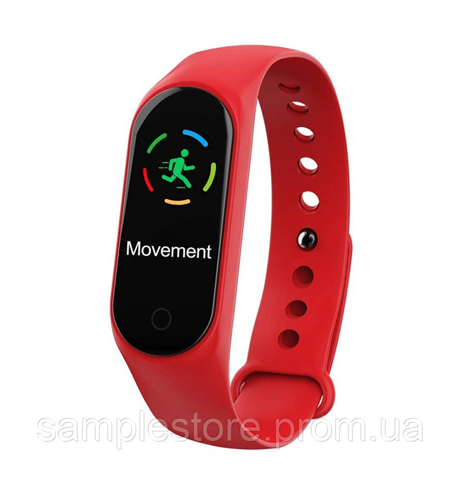 Фитнес браслет трекер Smart Band M3S Lux Red красный