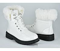 Ботинки женские демисезонные, белые, размеры 36, 38, 39, 40