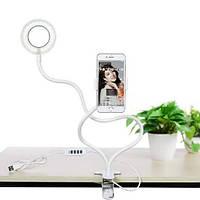 Кільцева лампа з держателем Professional Live Stream, селфи-кільце – білий, фото 1