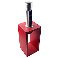 ElectroHouse Компактная мебельная розетка (вертикальная) 3х16A, 2хUSB 2,4A IP40