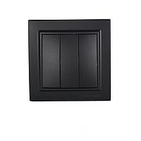 ElectroHouse Выключатель тройной графит Enzo ЕН-2185-PG.