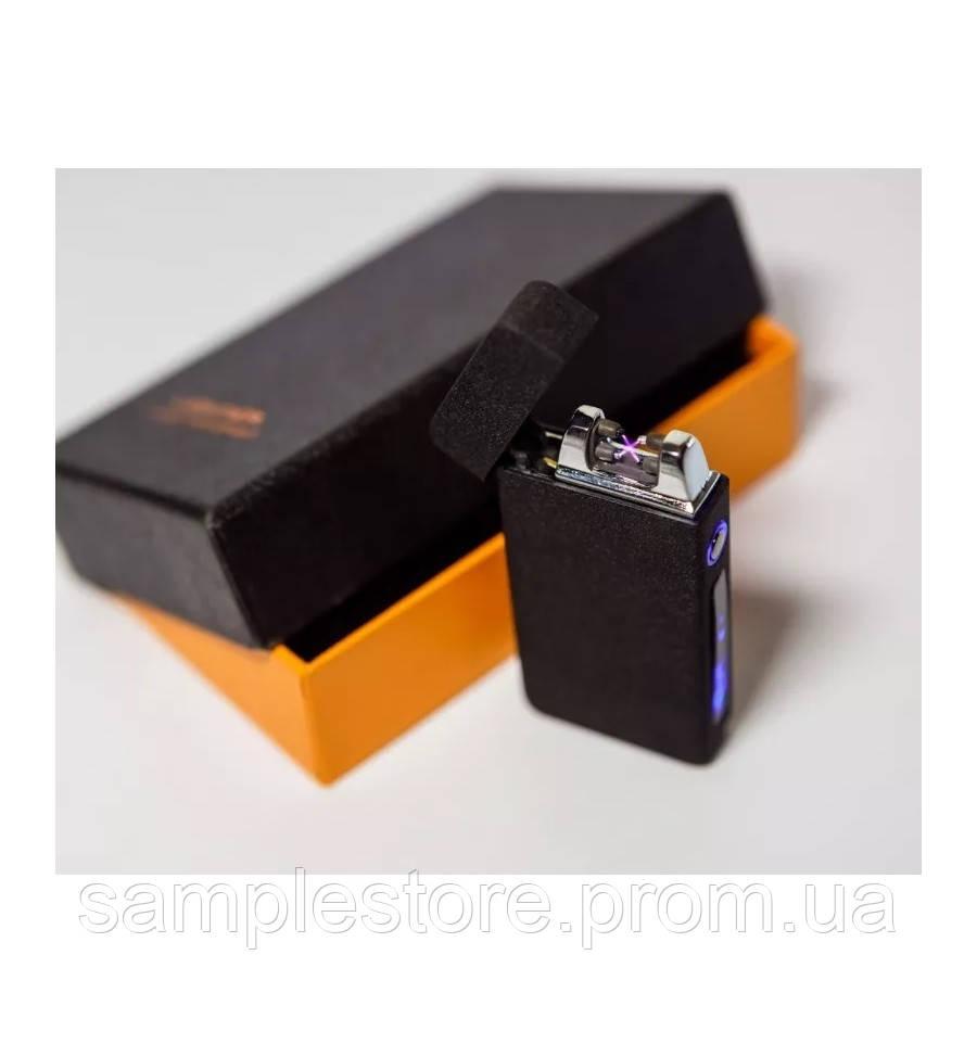 Электроимпульсная зажигалка две дуги Arc Black Matte, USB