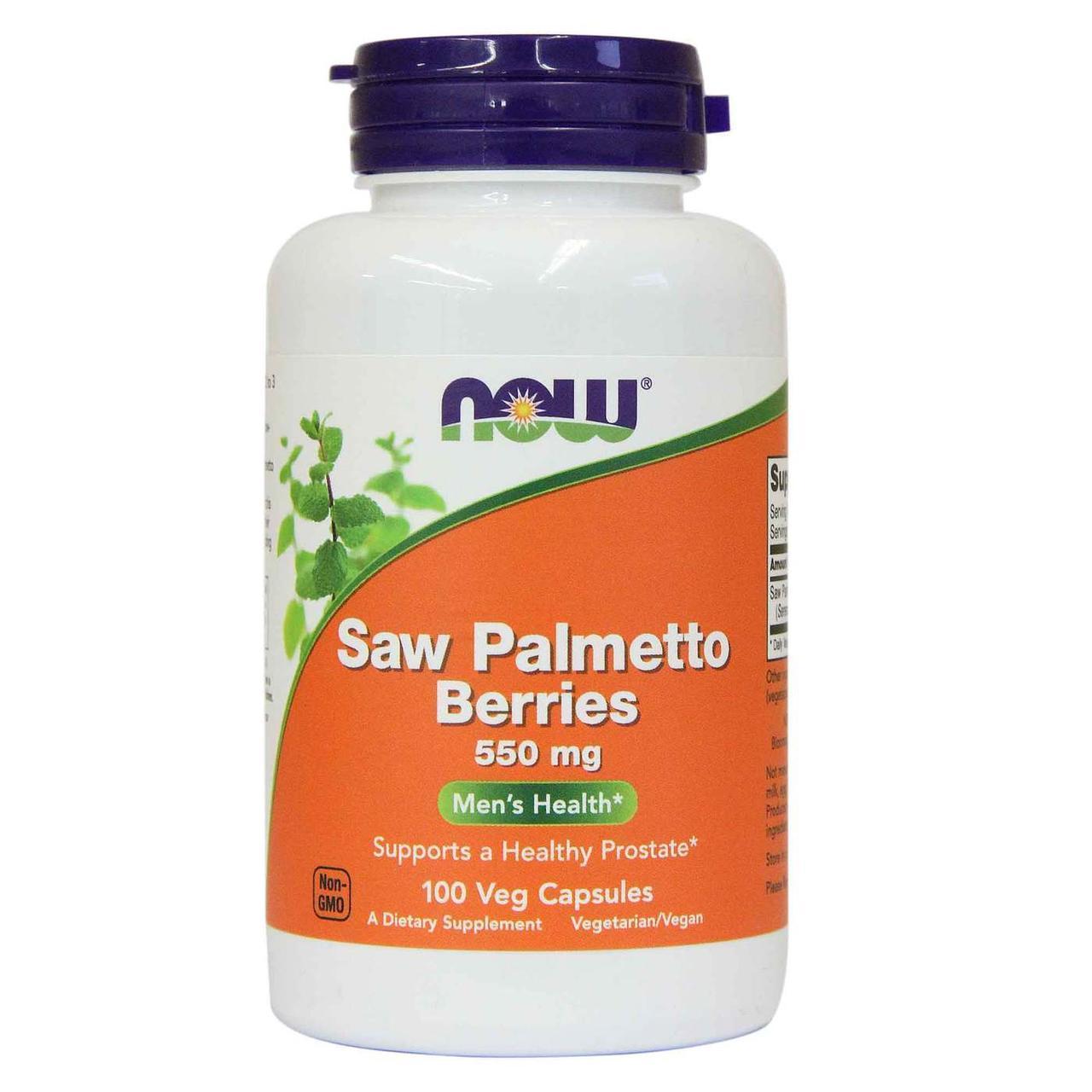 NOW Saw Palmetto Berries 550 мг - 100 веган кап