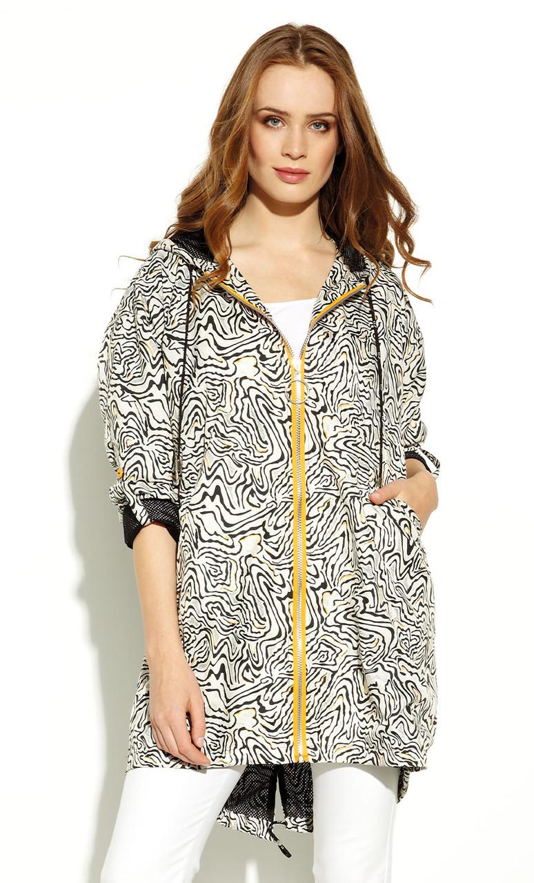 Жіноча куртка-парку Mualla Zaps молочного кольору. Колекція весна-літо 2020