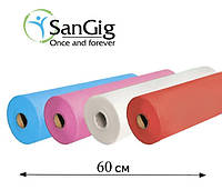 Простынь одноразовая в рулоне 0.6х100 м - 20 г/м2, (Белые, Голубые, Розовый, Красный)