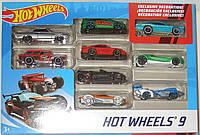 Hot Wheels Подарочный Набор из 9 машинок Хот Вилс, оригинал Mattel