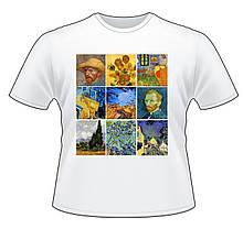 """Футболка с принтом """"Картины Ван Гога 2"""""""