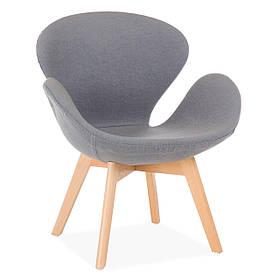 Кресло Сван Вуд Армз Серый (СДМ мебель-ТМ)