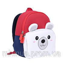 Дитячий рюкзак Nohoo Ведмедик з муфтою (NHQ004), фото 3
